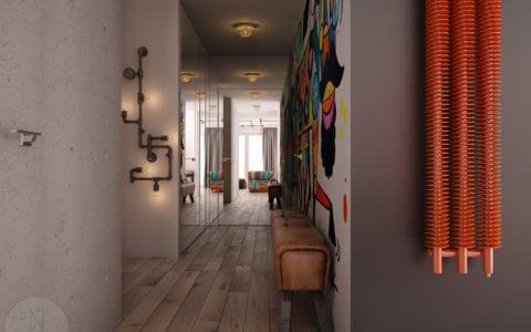 Mieszkanie na Warszawskiej Pradze - korytarz